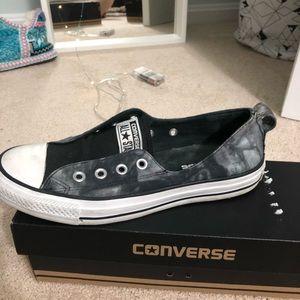 Black Tie Die Converse shoes Size 7.5